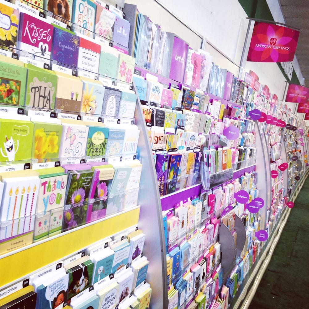 New American Greetings Card Wall Yelp