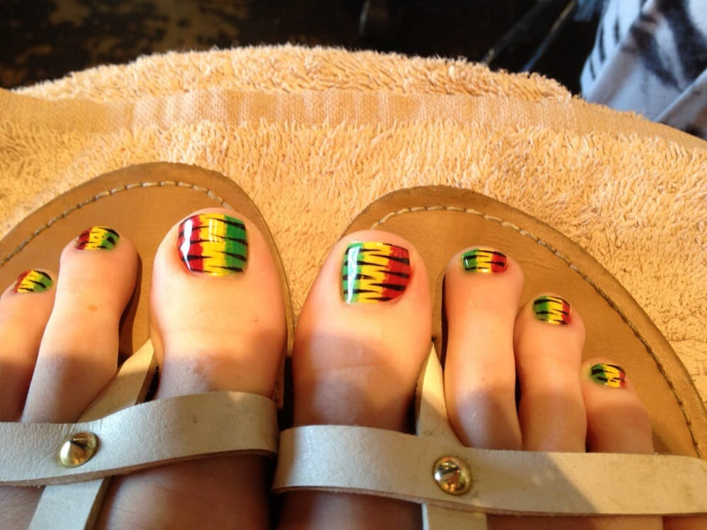 Rasta toe nails - Yelp