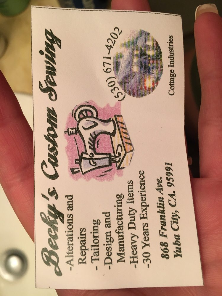 Beckys Custom Sewing and Manufacturing: 868 Franklin Ave, Yuba City, CA