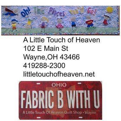 A Little Touch Of Heaven Quilt Shop Arts Crafts 102 E Main St