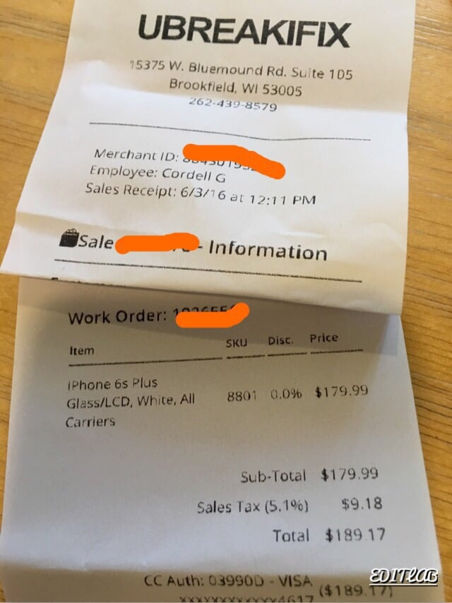 low priced a147c e5aac $179 to fix iphone 6s plus cracked glass. - Yelp