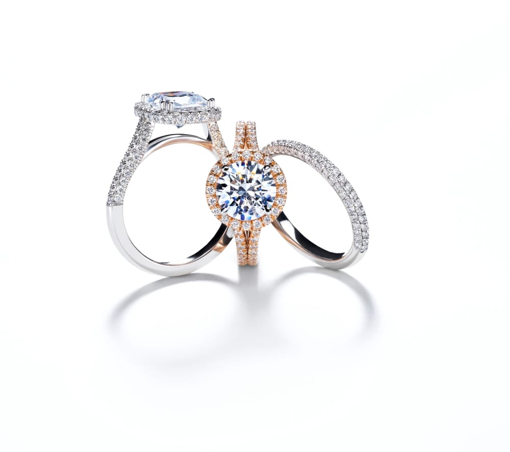 engagement milgrained eternity stunning platinum mounting and diamond ring approxima half collection roslyn mark rings patterson by product bridal way created with solitaire