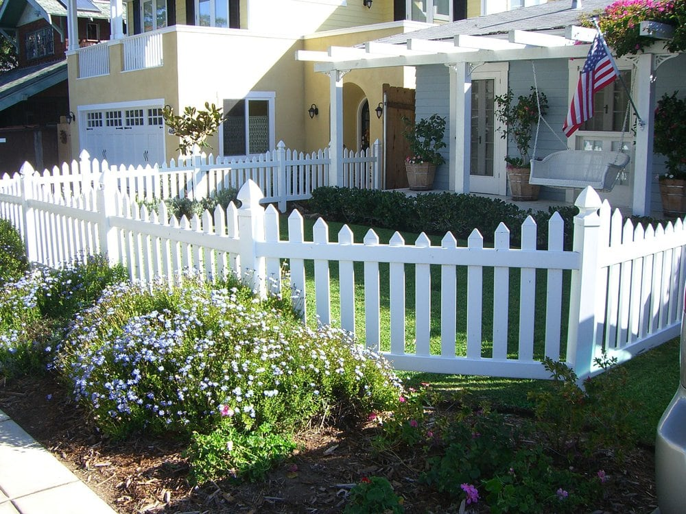 White Vinyl Picket Fence 3 Yelp