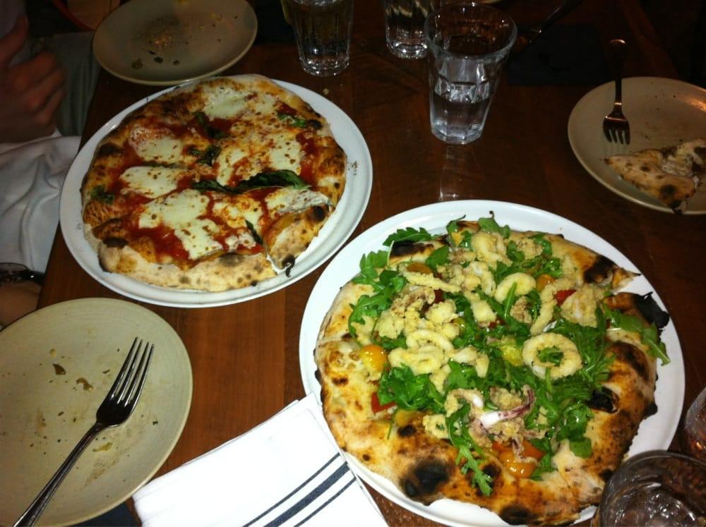 Calamari And Caprese Pizzas Yelp