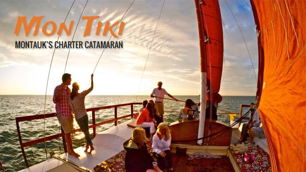 Sailing Montauk's Catamaran Mon Tiki: 32 Star Island Rd, Montauk, NY
