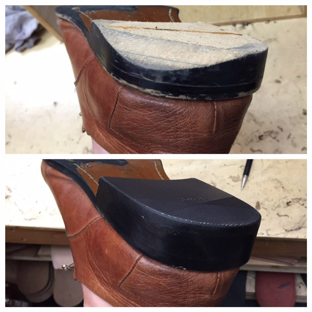 Repair the worn bases and replace the rubber caps on men's ...