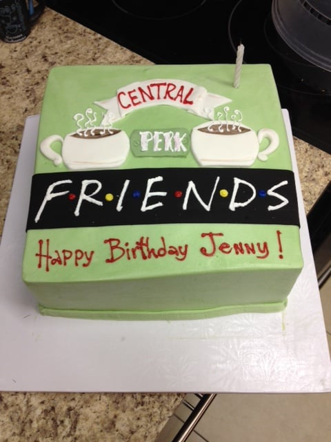 Friends TV Show Cake Yelp