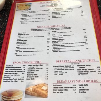 Nicky D S Coney Island Menu
