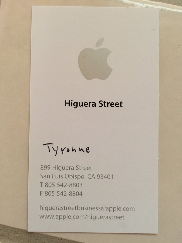 the store manager u0026 39 s business card  surprised by the low professionalism and anonymity this apple