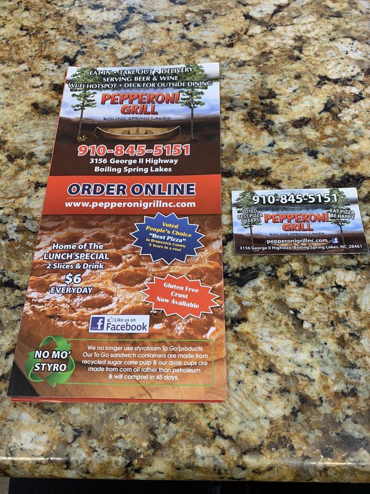 Pepperoni Grill: 3156 George Ii Hwy, Southport, NC