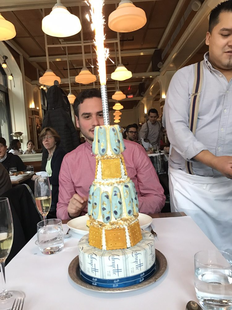 Free Fake Birthday Cake With Sparkler On Top For Celebrations