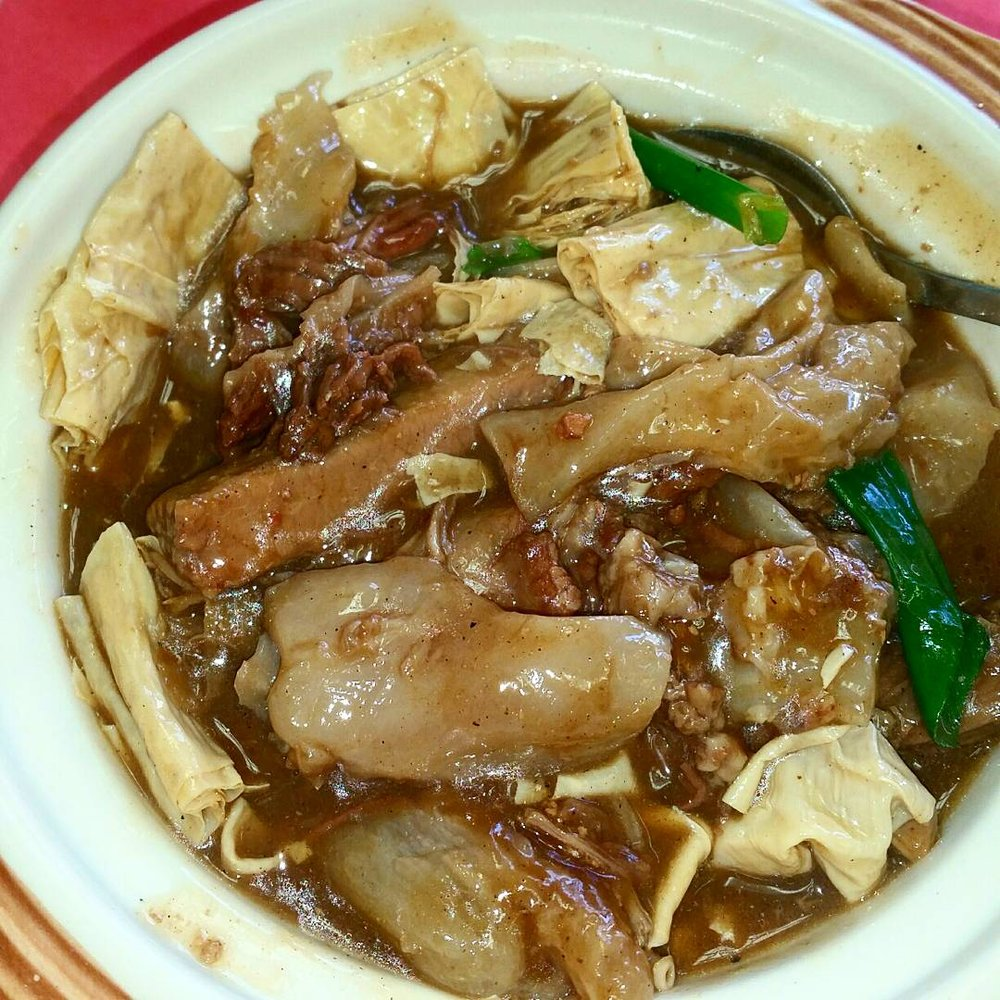 Beef Stew with Turnip Casserole ($10.95): Lots of fried bean curd ...