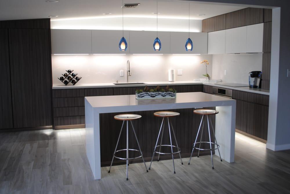 Kitchen Island Panels caesarstone alpine mist kitchen with full height splash and island