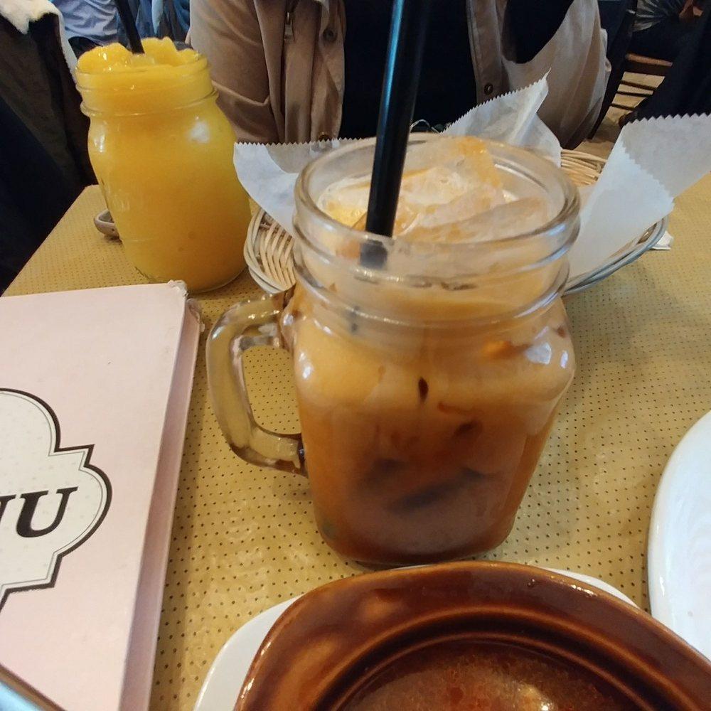 Thai iced tea and Mango Freeze - Yelp