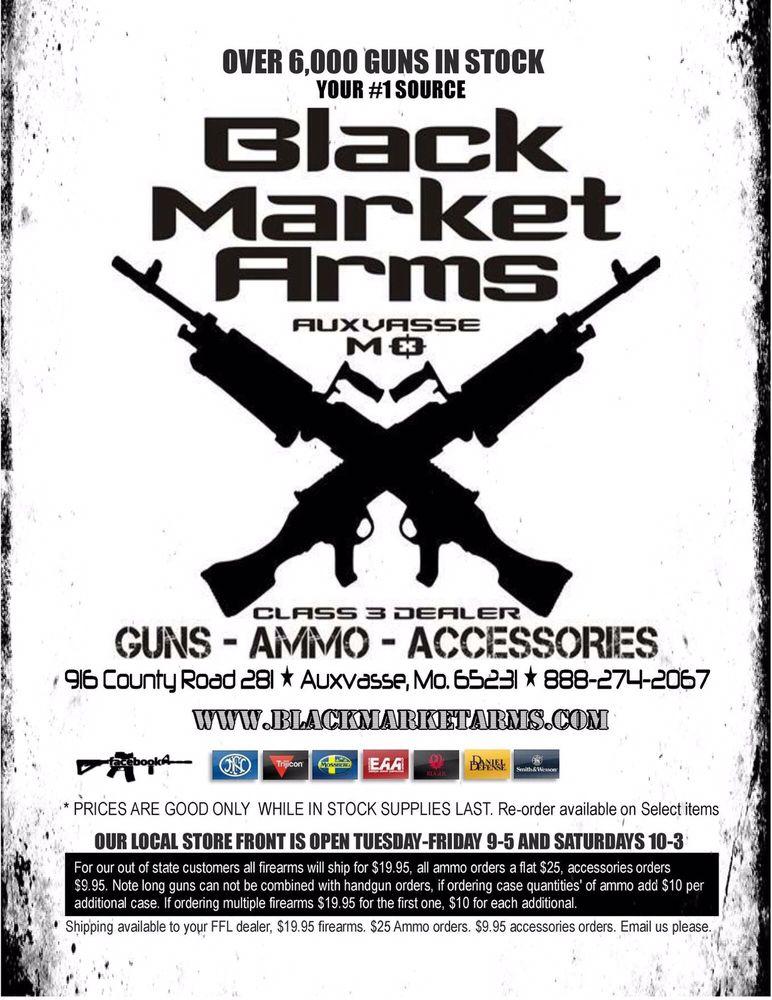 Black Market Arms: 916 County Rd 281, Auxvasse, MO