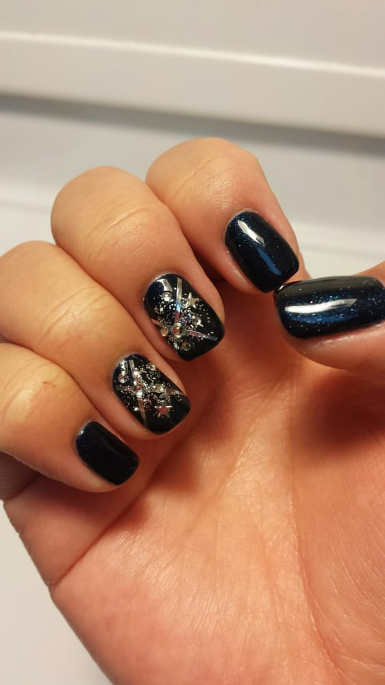 Got A Shellac Manicure With Designs By Kat Great Job Yelp