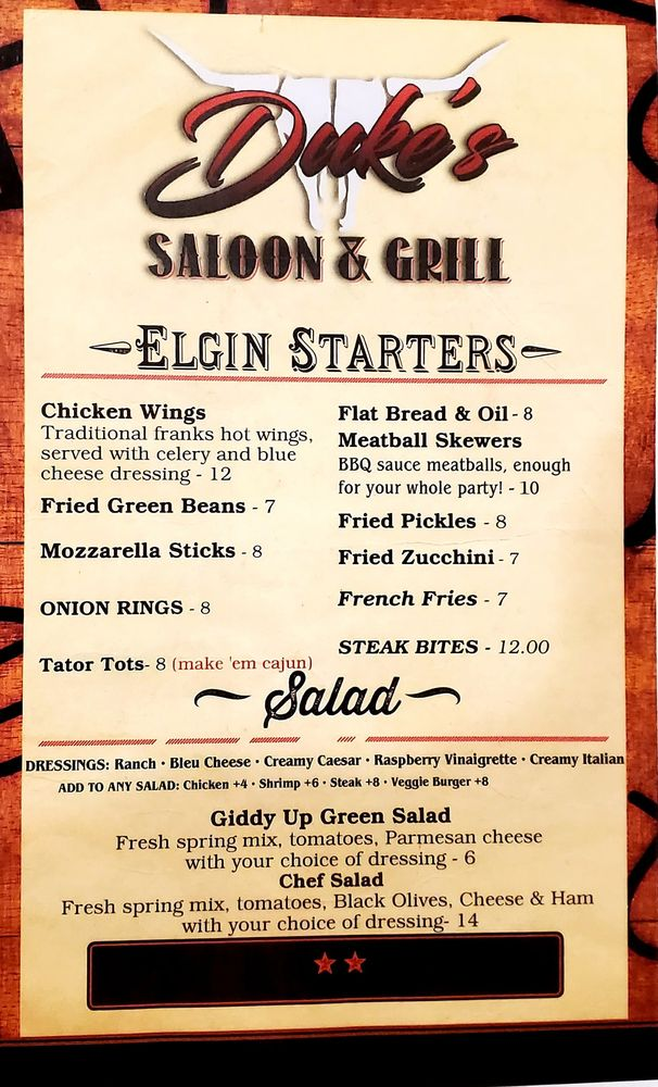 Duke's Saloon and Grill: 34 N 8th St, Elgin, OR