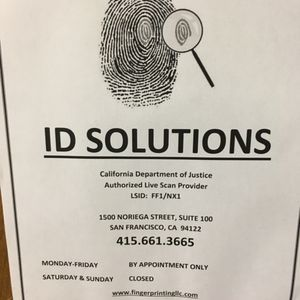 ID Solutions - Live Scan Fingerprinting - 101 Reviews