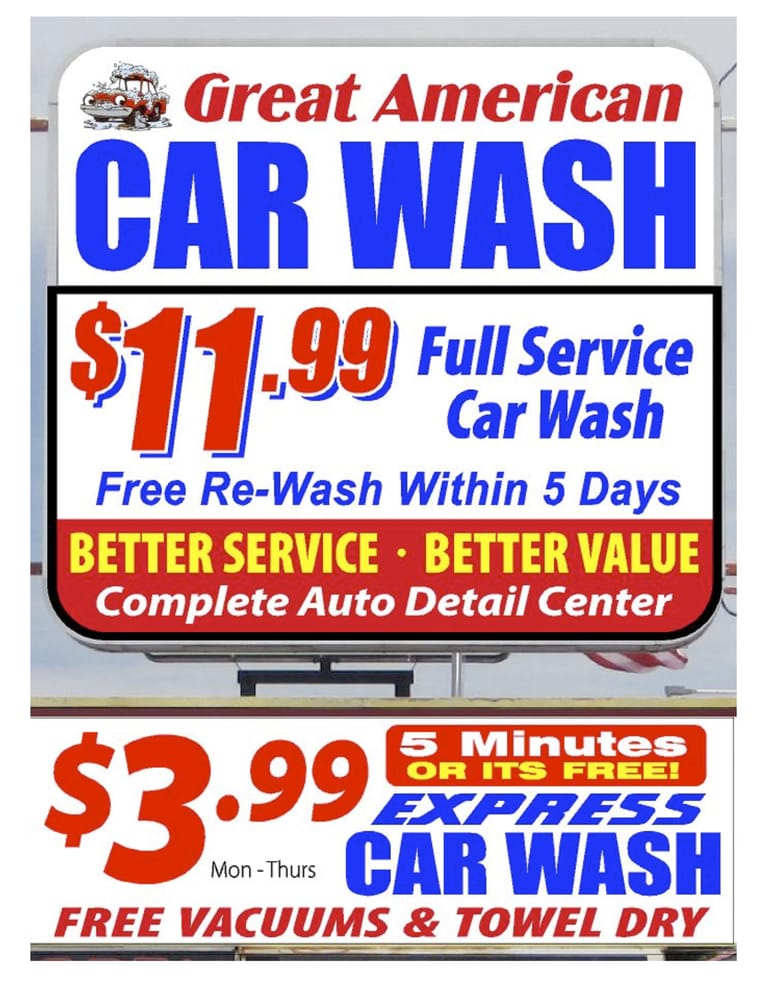 full service wash auto detail or express wash starting at with free vacuums and. Black Bedroom Furniture Sets. Home Design Ideas