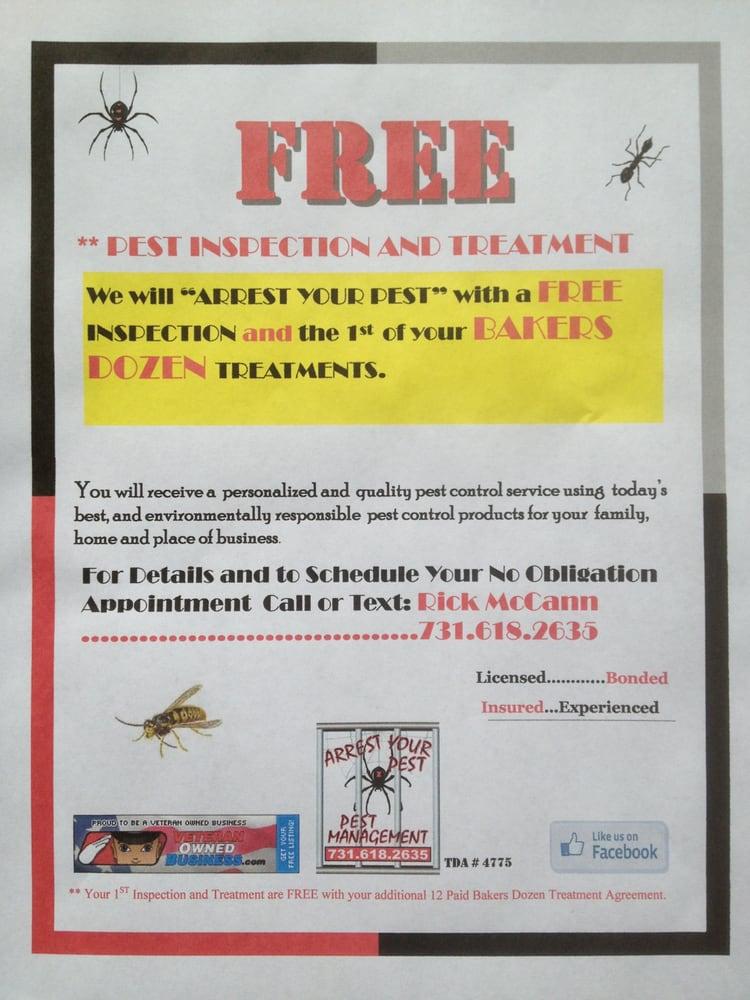 Arrest Your Pest Pest Management: 148 Lancaster, Medina, TN