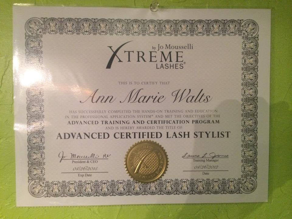 Advanced Certified Xtreme Lash Stylist & Directory Listed