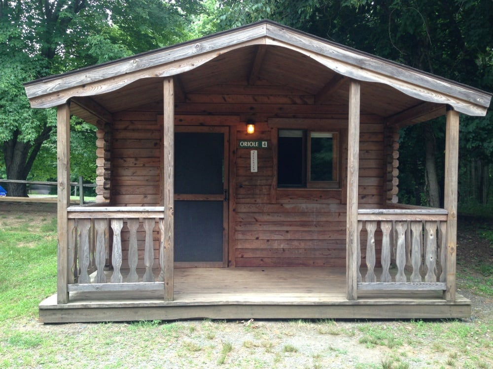 One of the cabins you can book for overnight stays this for Susquehanna state park cabins