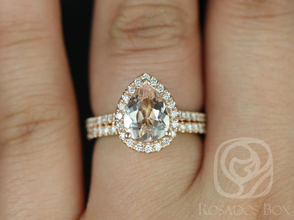Tabitha Medeio Size Morganite Rose Gold Wedding Set Yelp
