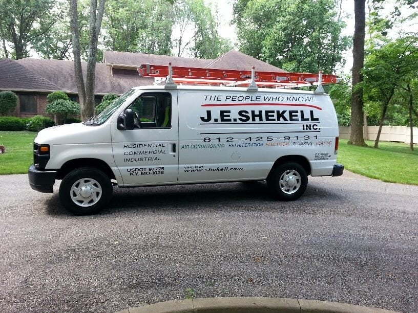 J.E. Shekell Heating & Air Conditioning, Plumbing and Electrical: 424 W Tennessee St, Evansville, IN