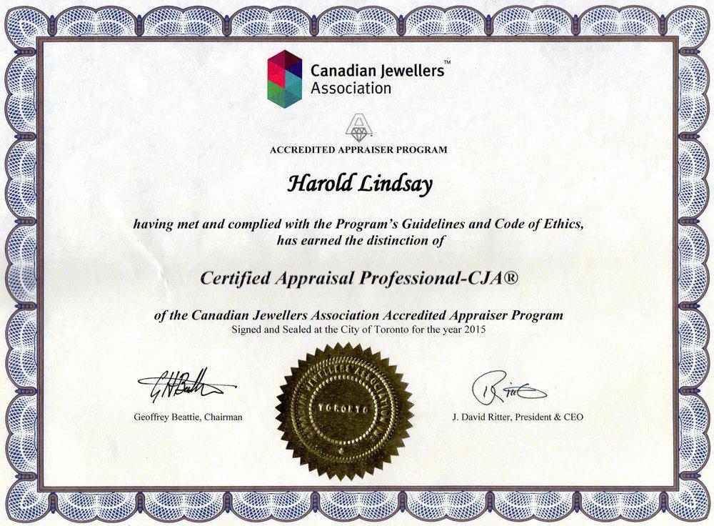 Canadian Jewellery Association Certified Appraisal Professional Yelp