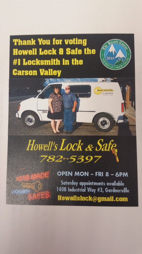 Howell's Lock and Safe: 1408 Industrial Way, Gardnerville, NV