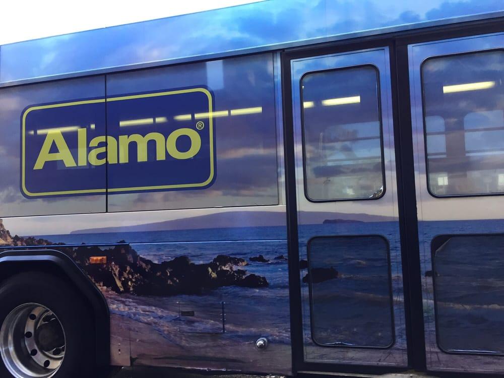Alamo Car Rental Maui: Alamo/National Rental Car Shuttle Bus At Maui Airport.
