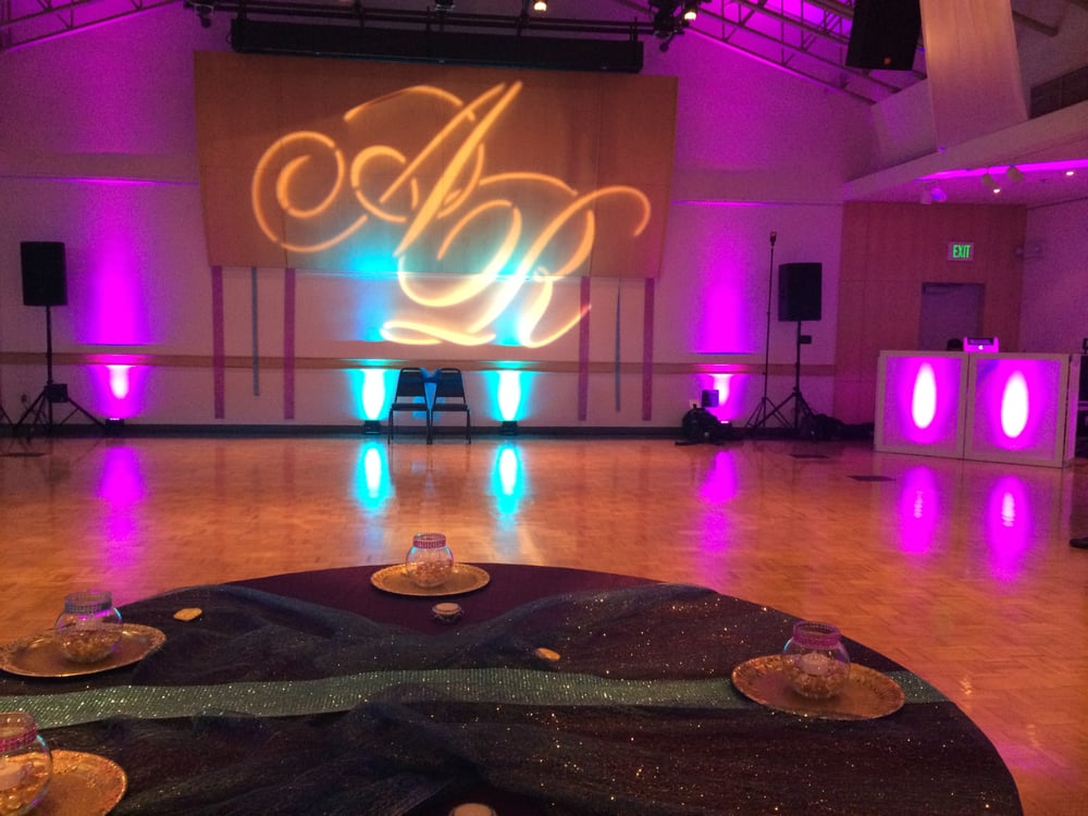 photo of bay area uplighting hayward ca united states custom gobo wedding bay area uplighting wedding