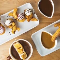 ... Staaten. Churros, Ice cream Churros, Dark chocolate, Dulce de leche