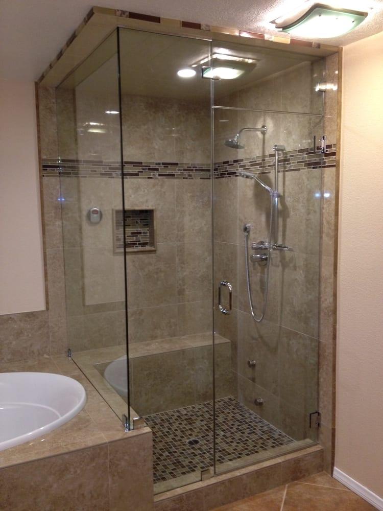 Custom frameless steam shower enclosure. - Yelp