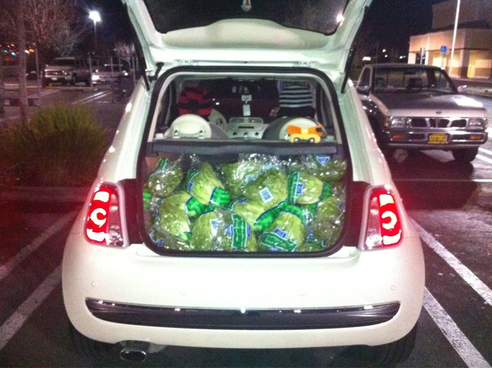 how many heads of lettuce fit in a fiat 54 yelp. Black Bedroom Furniture Sets. Home Design Ideas