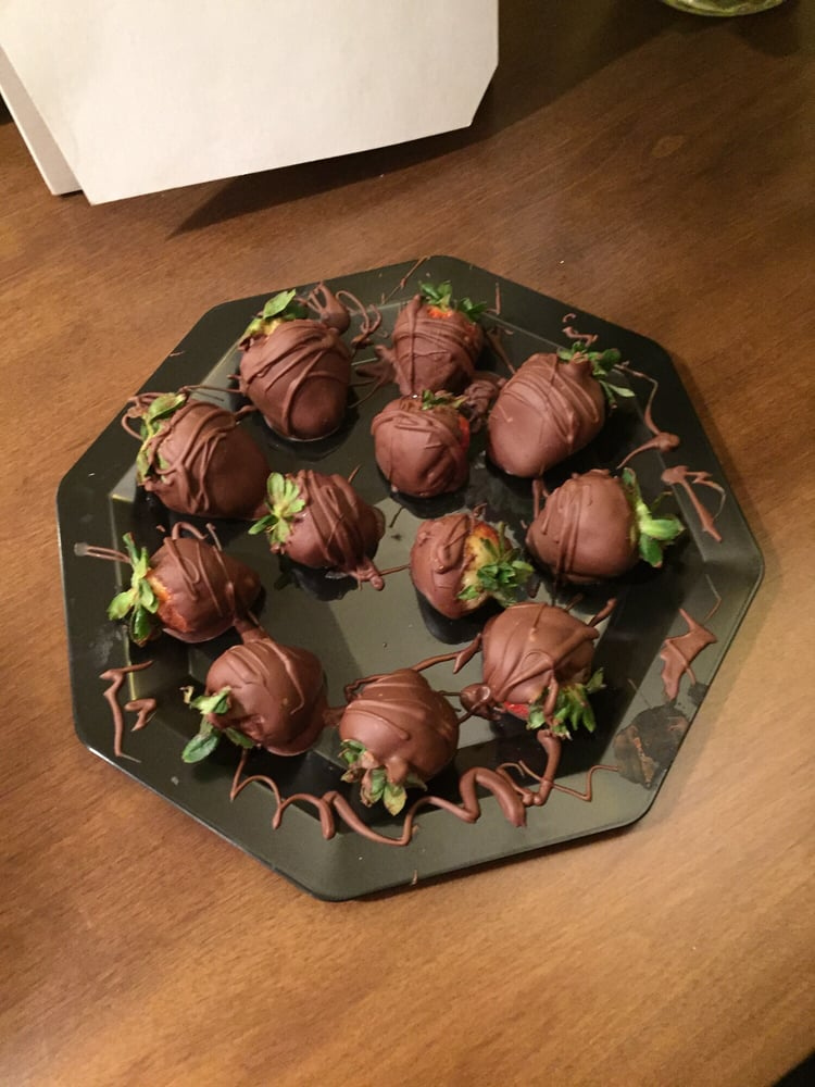 Chocolate Covered Strawberries Waiting For Me When I