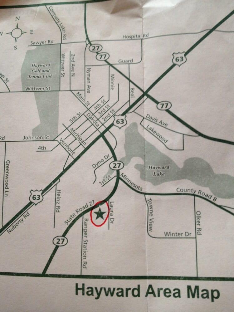 Flat Creek Inn: 10290 Hwy 27 S, Hayward, WI