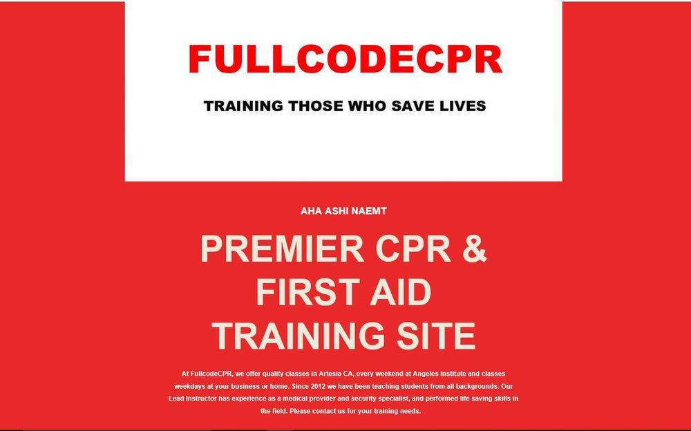 Fullcodecpr First Aid Classes 17100 Pioneer Blvd Artesia Ca