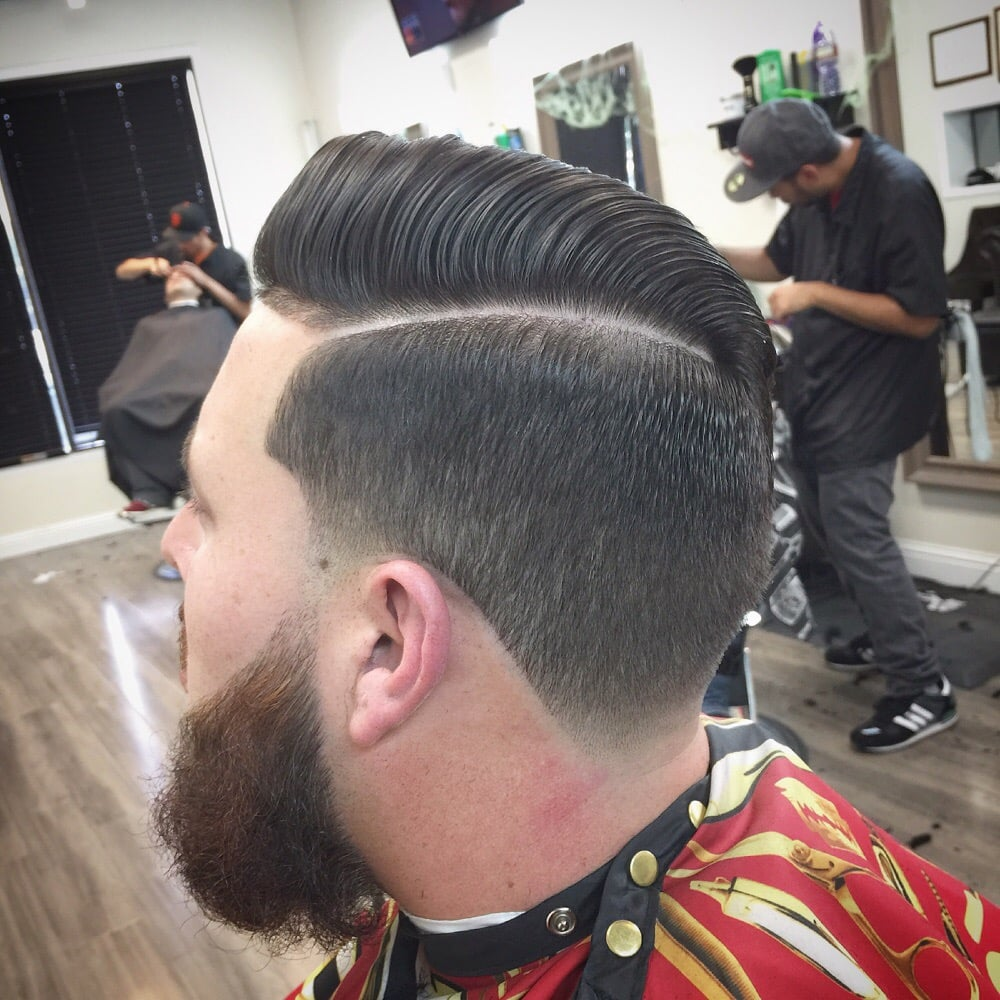 Shadow Fade Taper With Beard Trim And High Pomp Style Yelp