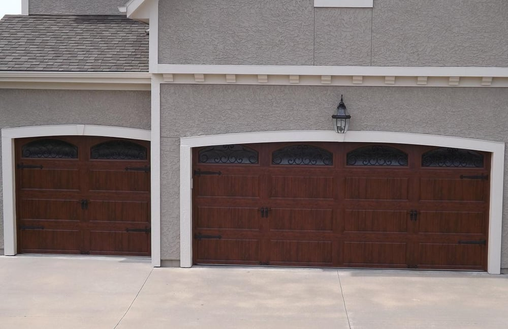 Clopay Ultra Grain Garage Doors With Wrought Iron Arch