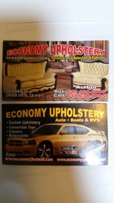 Economy Upholstery 3679 Main St Chula Vista Ca Furniture Repairing