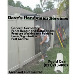 Daves handyman services closed 15 photos handyman 5734 sun photo of daves handyman services land o lakes fl united states new business card reheart Images