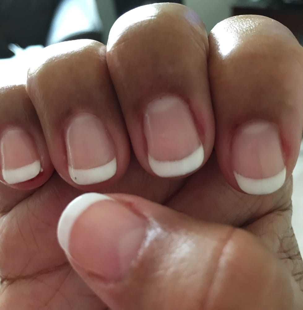 Natural-looking French tip...I like that! - Yelp