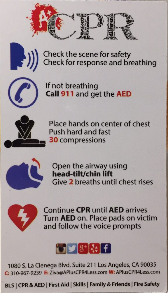 The Back Of The Business Card Even Has Basic Cpr Instructions Ill
