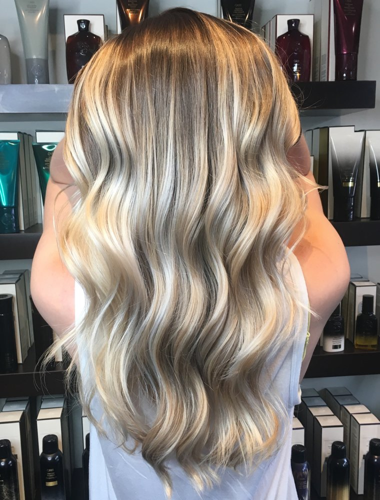 Icy Blonde Hair Painting With Baby Lites And Root Smudge Yelp