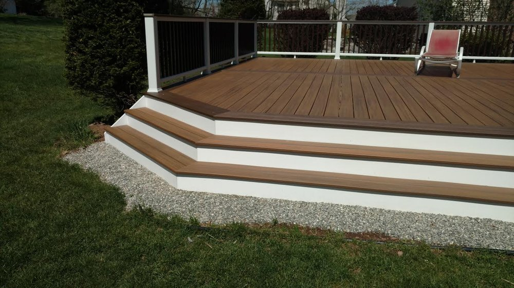 Trex Transcends with Azek trim on corner steps- Derby CT - Yelp