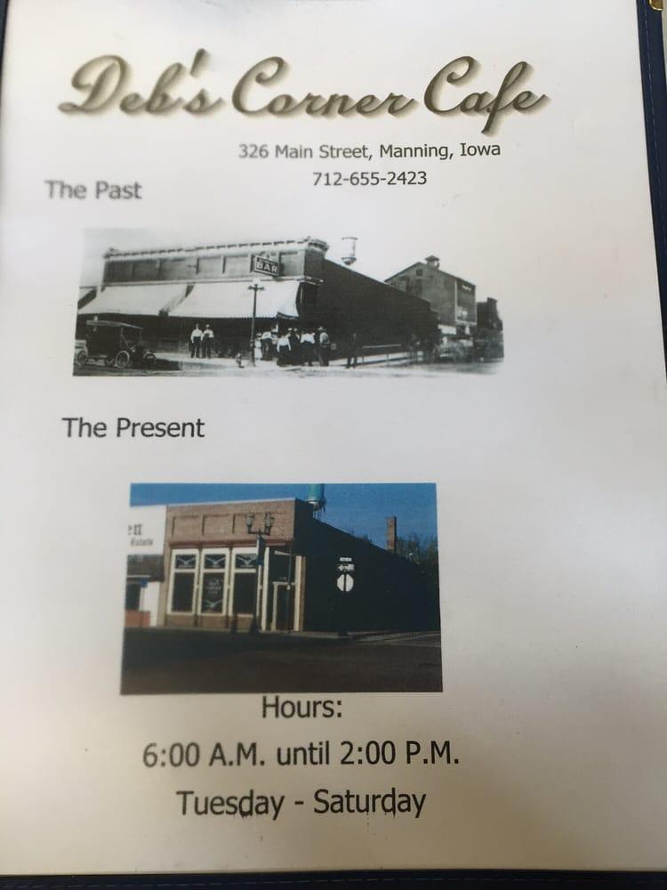 Deb's Corner Cafe: 326 Main St, Manning, IA