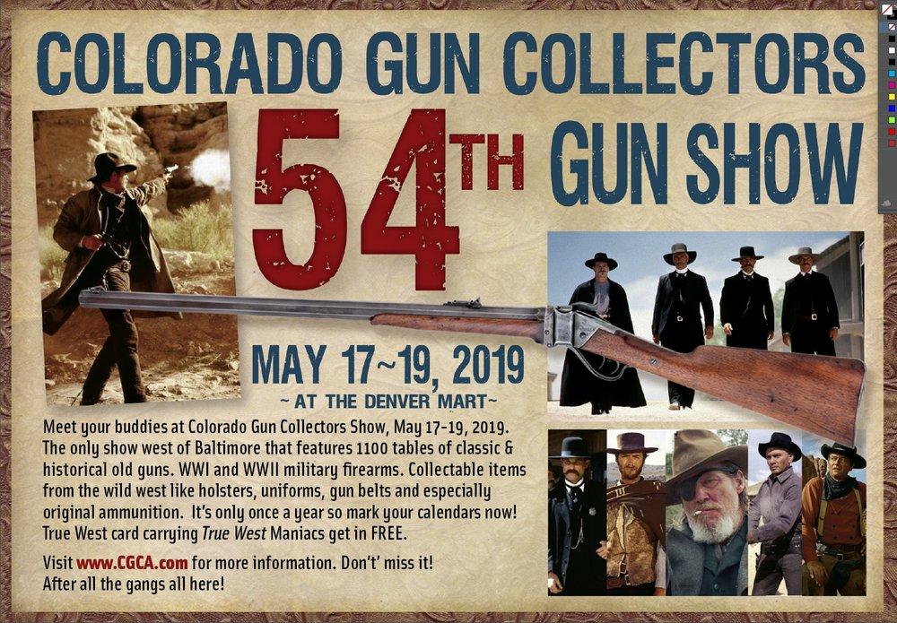 Colorado Gun Collectors Association Annual Gun Show: 3960 Palmer Park Blvd, Colordo Springs, CO