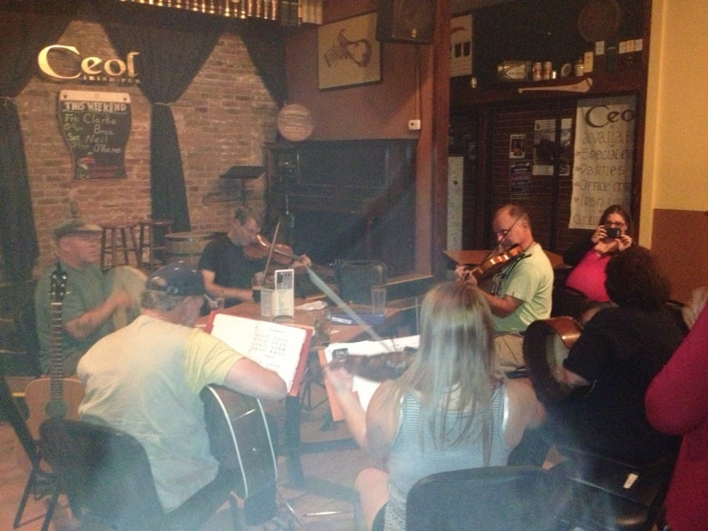 Traditional Irish Jam With Talented Local Folks Drums