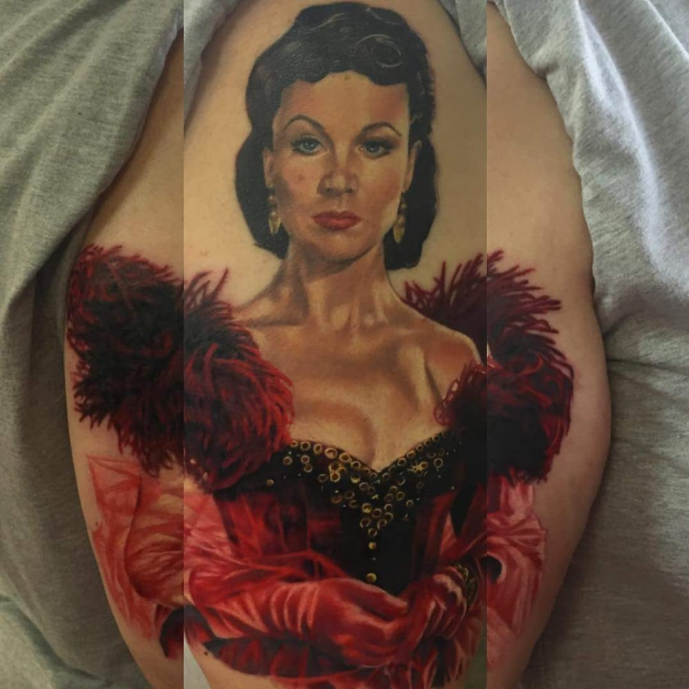 This is my beautiful portrait of scarlett o 39 hara by the for Urban s tattoo studio